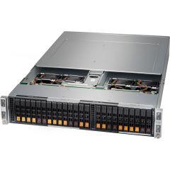 BigTwin A+ Server AS-2123BT-HNC0R - 2U - 4 nodes - Dual AMD EPYC Processors - up to 4TB memory - 6x SATA/SAS (4x NVMe) - Broadcom 3008 - OOB license - 2200W Redundant