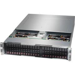 BigTwin A+ Server AS-2124BT-HTR - 2U - 4 nodes - Dual AMD EPYC Processors - up to 4TB memory - 6x SATA - OOB license - 2200W Redundant