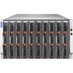 SuperBlade Enclosure SBE-610J-822 - 6U - up to 10 blade servers - up to 4x 10G/25G Ethernet switch - 8x 2200W Redundant (N + 1 or N + N)
