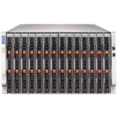 SuperBlade Enclosure SBE-614E-422 - 6U - up to 14 blade servers - up to 2x 10G Ethernet switch - 4x 2200W Redundant (N + 1 or N + N)