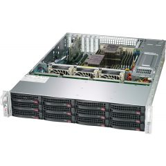 SuperStorage SSG-6029P-E1CR12H - 2U - Dual Intel Xeon Scalable Processors - up to 4TB memory - 12x SATA/SAS - Broadcom 3108, JBOD expansion - 2x 10Gb/s RJ45 - 1200W Redundant