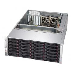 SuperStorage SSG-640P-E1CR24H - 4U - Dual Intel Xeon Scalable Processors - up to 4TB memory - 24x SATA/SAS - Broadcom 3908, JBOD expansion - 2x 10Gb/s RJ45 - 1200W Redundant