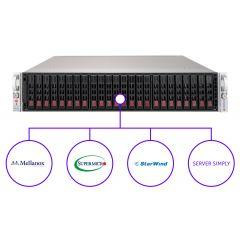 StarWind Virtual SAN for vSphere Enterprise HCI solution - 2U - Dual Intel Xeon Scalable Processors - up to 1.5TB memory - 24x SSD - Broadcom 3108 - 2x 25Gb/s SFP28 - 1000W Redundant