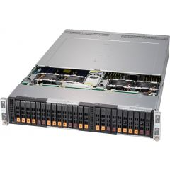 BigTwin SuperServer SYS-2029BT-HNTR - 2U - 4 nodes - Dual Intel Xeon Scalable Processors - up to 6TB memory - 6x SATA (4x NVMe) - 2200W Redundant