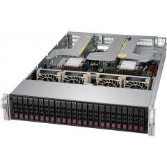 Ultra SuperServer SYS-2029U-TR4 - 2U - Dual Intel Xeon Scalable Processors - up to 6TB memory - 24x SATA/SAS - 4x 1Gb/s RJ45 - 1000W Redundant