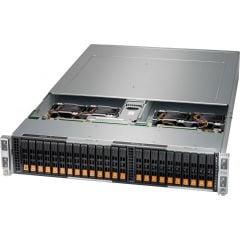 BigTwin SuperServer SYS-220BT-HNC9R-LC - 2U - 4 nodes - Dual Intel Xeon Scalable Processors - up to 4TB memory - 6x NVMe/SATA/SAS - Broadcom 3908 - Liquid Cooling - 2600W Redundant