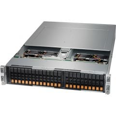BigTwin SuperServer SYS-220BT-HNTR-LC - 2U - 4 nodes - Dual Intel Xeon Scalable Processors - up to 4TB memory - 6x NVMe/SATA - Liquid Cooling - 2600W Redundant