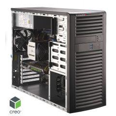 Mid level PTC Creo Certified Workstation SYS-5039A-I - tower - Single Intel Xeon W-2275 Processor - 128GB memory - 1.0TB M.2 NVMe - 3x 960GB SSD in RAID 5 - 1Gb/s & 5Gb/s RJ45 - Quadro RTX 6000 card - MS Windows 10 PRO - 900W