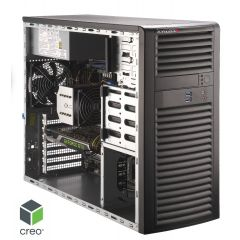 High level PTC Creo Certified Workstation SYS-5039A-I - tower - Single Intel Xeon W-2295 Processor - 256GB memory - 1.0TB M.2 NVMe - 3x 1.92TB SSD in RAID 5 - 1Gb/s & 5Gb/s RJ45 - 2x Quadro RTX 6000 card - MS Windows 10 PRO - 900W