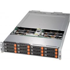 BigTwin SuperServer SYS-6029BT-DNC0R - 2U - 2 nodes - Dual Intel Xeon Scalable Processors - up to 6TB memory - 6x SATA/SAS (3x NVMe) - Broadcom 3008 - 2200W Redundant
