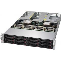 Ultra SuperServer SYS-6029U-TR25M - 2U - Dual Intel Xeon Scalable Processors - up to 6TB memory - 12x SATA/SAS - 2x 25Gb/s SFP28 - 1000W Redundant