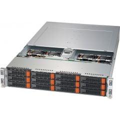 BigTwin SuperServer SYS-620BT-HNC8R-LC - 2U - 4 nodes - Dual Intel Xeon Scalable Processors - up to 4TB memory - 3x NVMe/SATA/SAS - Broadcom 3808 - Liquid Cooling - 2600W Redundant