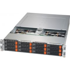 BigTwin SuperServer SYS-620BT-HNTR-LC - 2U - 4 nodes - Dual Intel Xeon Scalable Processors - up to 4TB memory - 3x NVMe/SATA - Liquid Cooling - 2600W Redundant