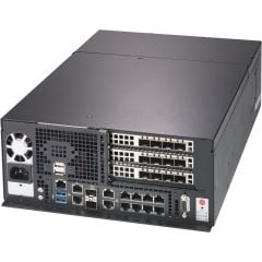 SuperServer SYS-E403-9D-4C-FN13TP - tower - Intel Xeon D-2123IT Processor - up to 512GB memory - 2x SATA (fixed) - 9x 1Gb/s RJ45 + 2x 10Gb/s RJ45 + 2x 10Gb/s SFP+ - 600W
