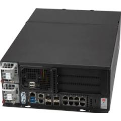 SuperServer SYS-E403-9D-4C-FRDN13+ - tower - Intel Xeon D-2123IT Processor - up to 512GB memory - 4x SATA (fixed) - 9x 1Gb/s RJ45 + 4x 10Gb/s SFP+ - 600W Redundant DC 48V input